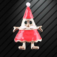 2015 new European and American fashion classic alloy brooch Santa Claus Christmas brooch gift wholesale manufacturers