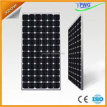 PWG High Efficiency 320W Solar Panel for Solar Power Kit Photovoltaic with CE & ISO