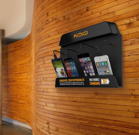 4 Port Wall Mounted Mobile Phone Charging Station