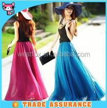Daul Wear Colorful Beach Lady Dress