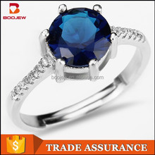Imitation sapphire fashion graceful jewelry 925 sterling silver wedding ring for engagement