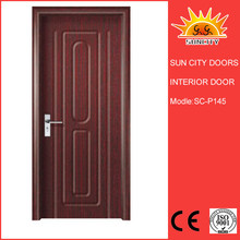 China flush interior frosted glass pvc door SC-P145