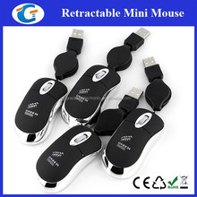 Laptop Mouse Mini Computer Mouse With Retractable Cable GET-MM08