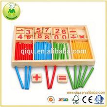 Número de madera inteligente Sticks juguete