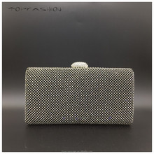 2015 Top selling twinkling hotfix africa crystal hand eveng bag, luxury cosmetic clutch bag