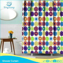 hook less polyester fabric transparent shower curtains latest fashion curtains