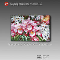 picture of classical beautiful flower oil painting on canvas