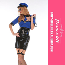 Factory Directly Provide High Quality Elegant Cop Costume Women sexy Halloween costumes