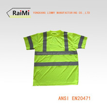 EN471 Class2 short sleeve safety t-shirt fluorescent