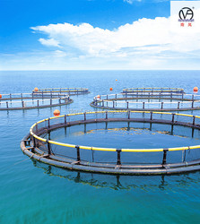 Circular floating net cage for fish farming made of quality HDPE pipe
