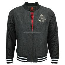 Newest Design Fashion Black Contrast Baseball Varsity Letterman Jacket Wholesale Hip Hop Clothing hip hop clothing women