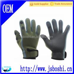 adjustable stretchy Velcro Neoprene fishing gloves
