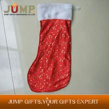 Top quality Christmas stocking,cheapest new style Christmas stocking with shinny stars