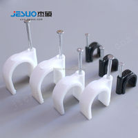 Stainless steel wall cable clip plastic mounting clip clamp