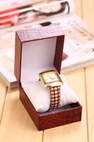 Factory Sale attractive style pu/pvc box for watch with good prices