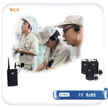 Portable Rechargeable 2.4Ghz Tour Guide System with Integrated charger case for guiding tours and travelling company