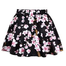 2015 Lady Skirt Sublimation Printing Floral Black Mini Skirt High Quality N13-8
