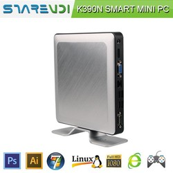good quality low cost compact pc K390N aluminum shell new design cost saving low power consumption