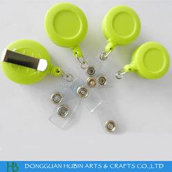 ABS plastic 32mm custom printed badge holder pull reel