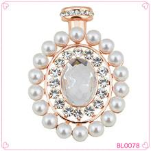 Top Quality Rhinestone Pearl Brooch For Wedding Invitation