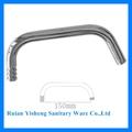 Aço inoxidável do tubo cromado acessórios/torneira tubular/rodada torneira de cozinha bica