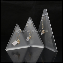 Triangle Necklace Displayed Acrylic Stand