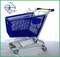 100litres Plastic Supermarket Shopping Cart Trolley German Bauhaus Supplier