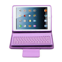 universal folding stand Flexible bluetooth keyboard PU leather case for Ipad mini