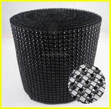 10 Yards Black Diamond Rhinestone Ribbon Mesh Wrap Roll For DIY Decor