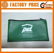 High Quality Curved Zipper Vinyl Bank Deposit Bags Pvc Leather Bank Deposit Bags