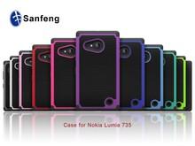 Ballistic defender combo case for Nokia 735 Lumia 730 colorful phone cover