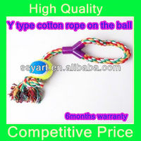 2013Hot selling & competitive price Y type cotton rope on the ball for dog toys