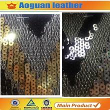 Sequin pu leather fabric (cuerina para calzado)