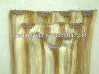 guangzhou shine hair trading co. ltd. brazilian virgin clip in weft in piano colors