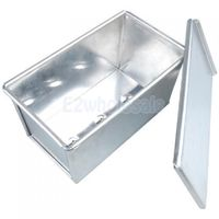8 x 4.3 x 4inch Sandwich Loaf Pullman Bread Tin Pan Box