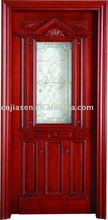 glass insert exterior wooden door