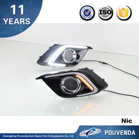 New Daytime running light For Mazda 3 Axela 2013-2014 running lamp C-type Auto accessories from pouvenda