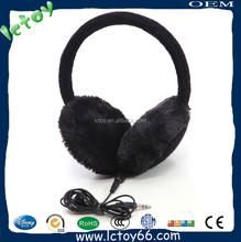 black earmuff bluetooth headphone