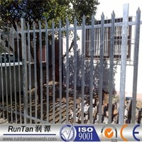 ISO9001and CE factory hot dipped galvanized and pvc coated rail fence w type palisade fence Since 1989