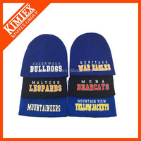 Online Wholesale 3D Embroidery Knitted Winter Hat Beanie