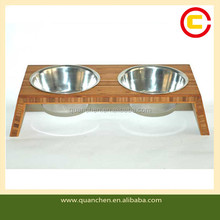 Customized Bamboo Pet Bowls for Dog or Cats
