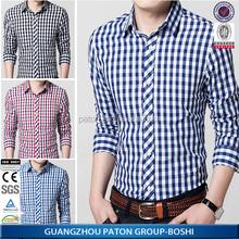 Gros 100% coton hommes Casual Shirts fabriqués en chine