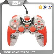 Transparent PC Gamepad Joystick USB Connector Double Shock