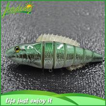 Aparejos de pesca 7 secciones alta calidad gusano estilo suave de pescado de aleta Yo-Zuri señuelos de la pesca