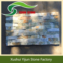 High Quality Exterior Slate Wall Decorative Green Rusty Culture Stone