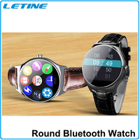 heart rate smart watch android round smart watch with ce rohs certificates