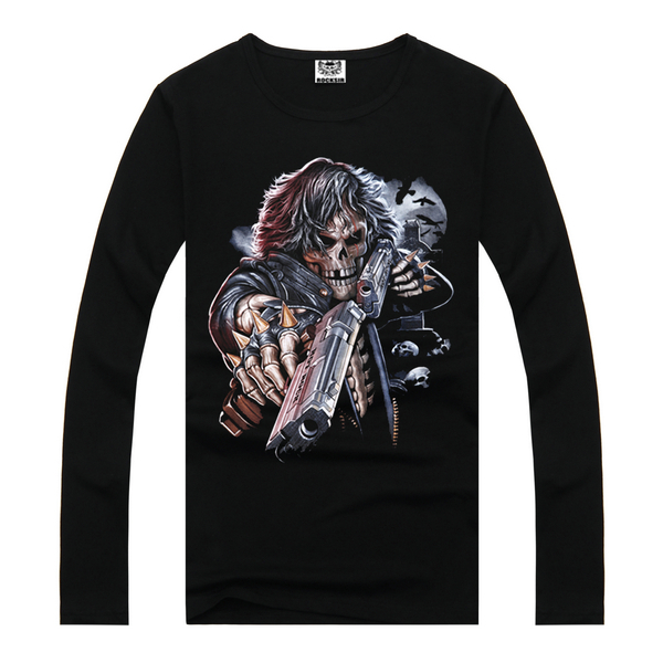 Skull printed t shirts wholesale man t shirt 2015 graphic for Where to get t shirts printed cheap