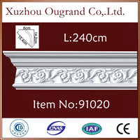 pu plastic baseboard picture frame moulding for house decoration