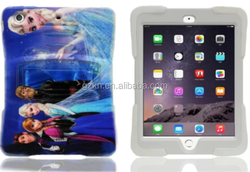 Heavy duty 3D frozen cartoon painting case for iPad mini /mini 3 colorful bumper skin