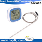Tela de toque digital kitchen timer CHURRASCO carne cozinha termômetro